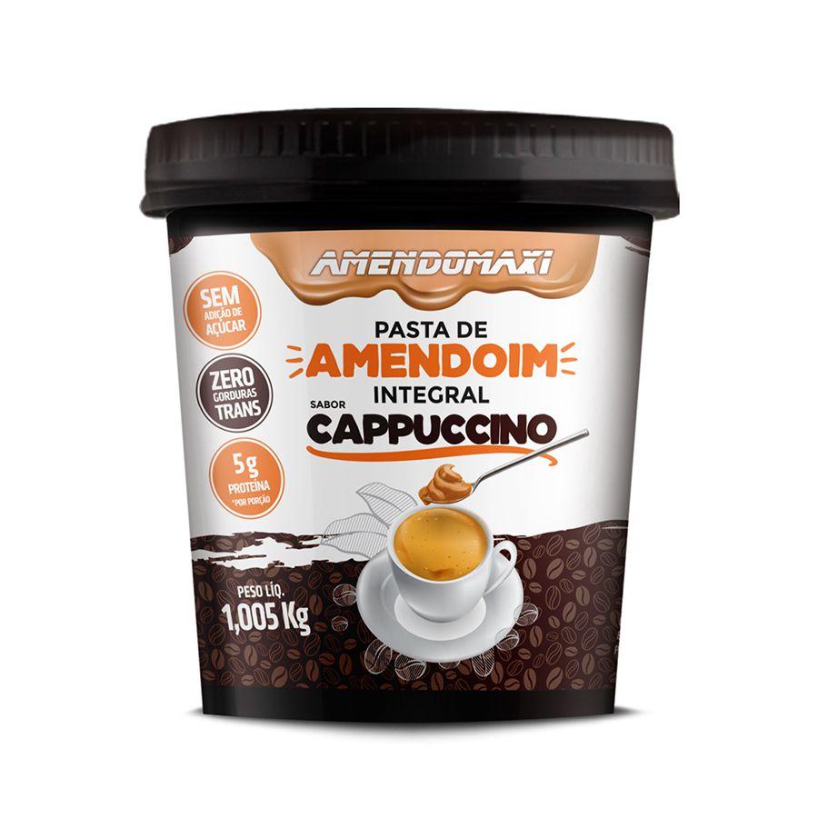Pasta Integral de Amendoim Cappuccino 1kg – AmendoMaxi