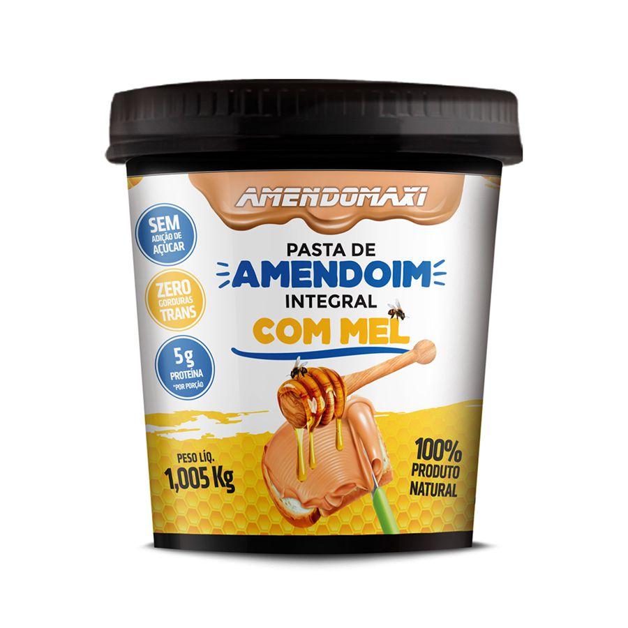 Pasta de Amendoim Com Mel 1kg – AmendoMaxi