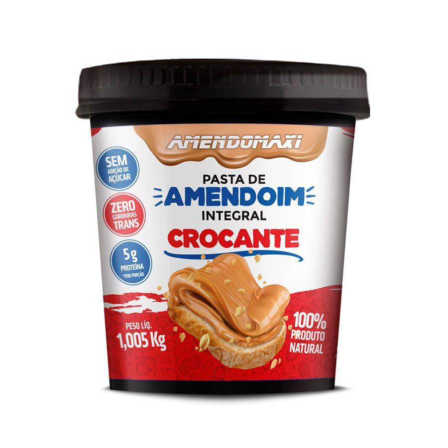 Pasta de Amendoim Crocante 1kg – AmendoMaxi