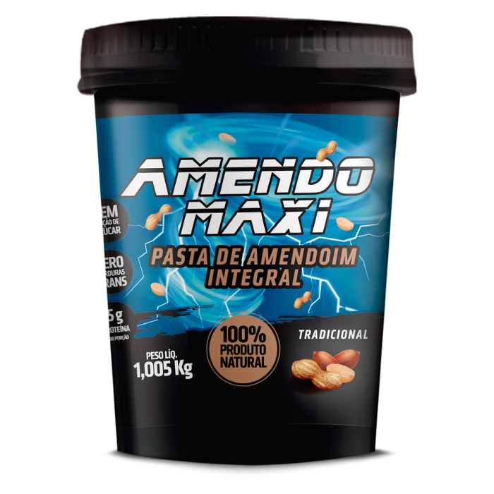 Pasta Integral de Amendoim Tradicional 1kg – AmendoMaxi