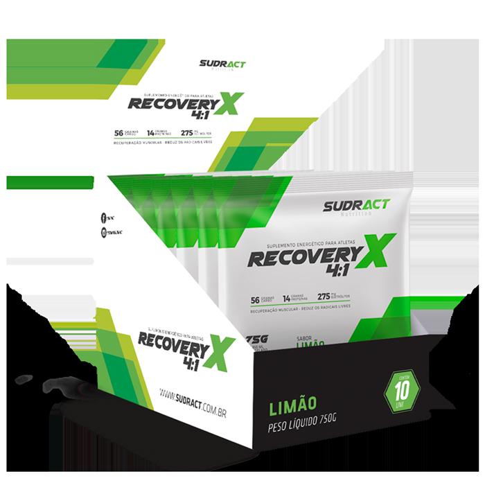 Recovery X 4:1 10 sachês de 75g - Sudract Nutrition