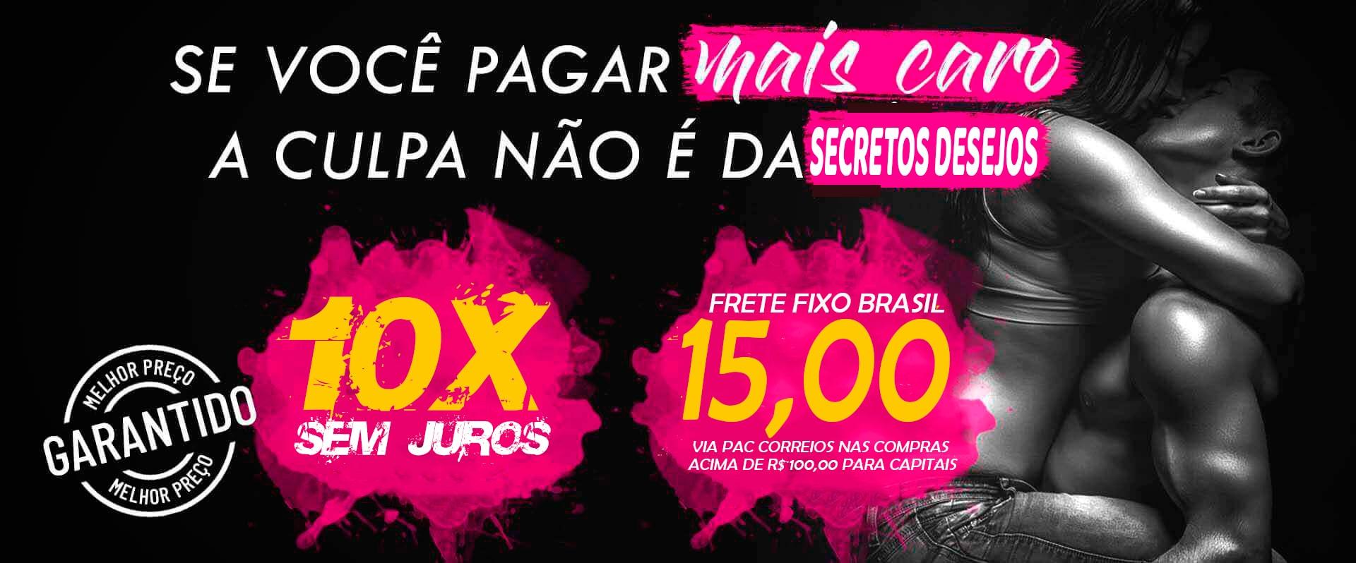 Frete fixo Brasil Sex shop