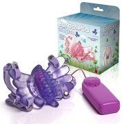 Vibrador Butterfly Borboleta Mágica com Estimulador Clitoriano - Lilás