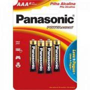 Pilha Panasonic Alcalina Palito AAA 6un