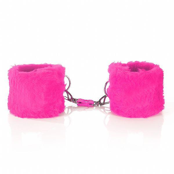 Algema Em Pelúcia Com Fechamento Em Velcro - Rosa