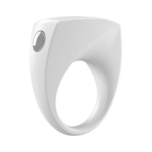 Anel Peniano Com Vibrador B6 White - Ovo Lifestyle