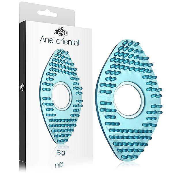 Anel Peniano Oriental Grande em silicone Azul - Adao e Eva
