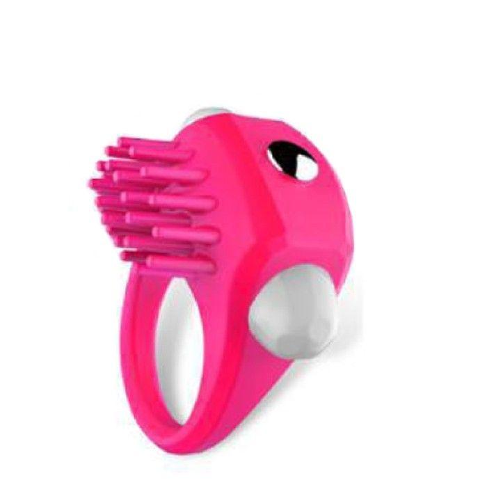 Anel Peniano Vibratório com Saliências - Pink Pleasure