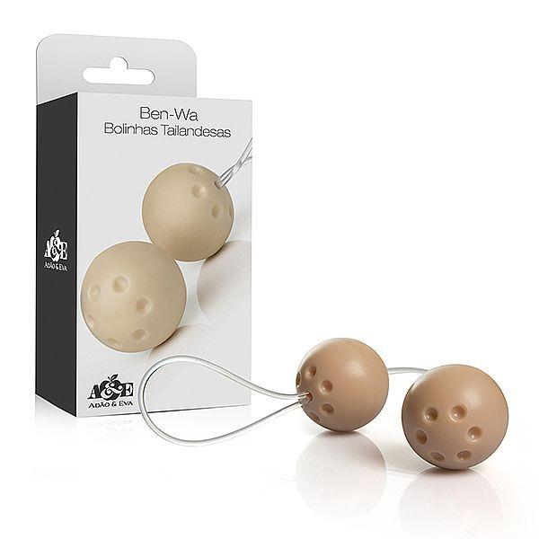 Ben-wa Conjunto 2 bolas pompoar Marfim - Adao e Eva