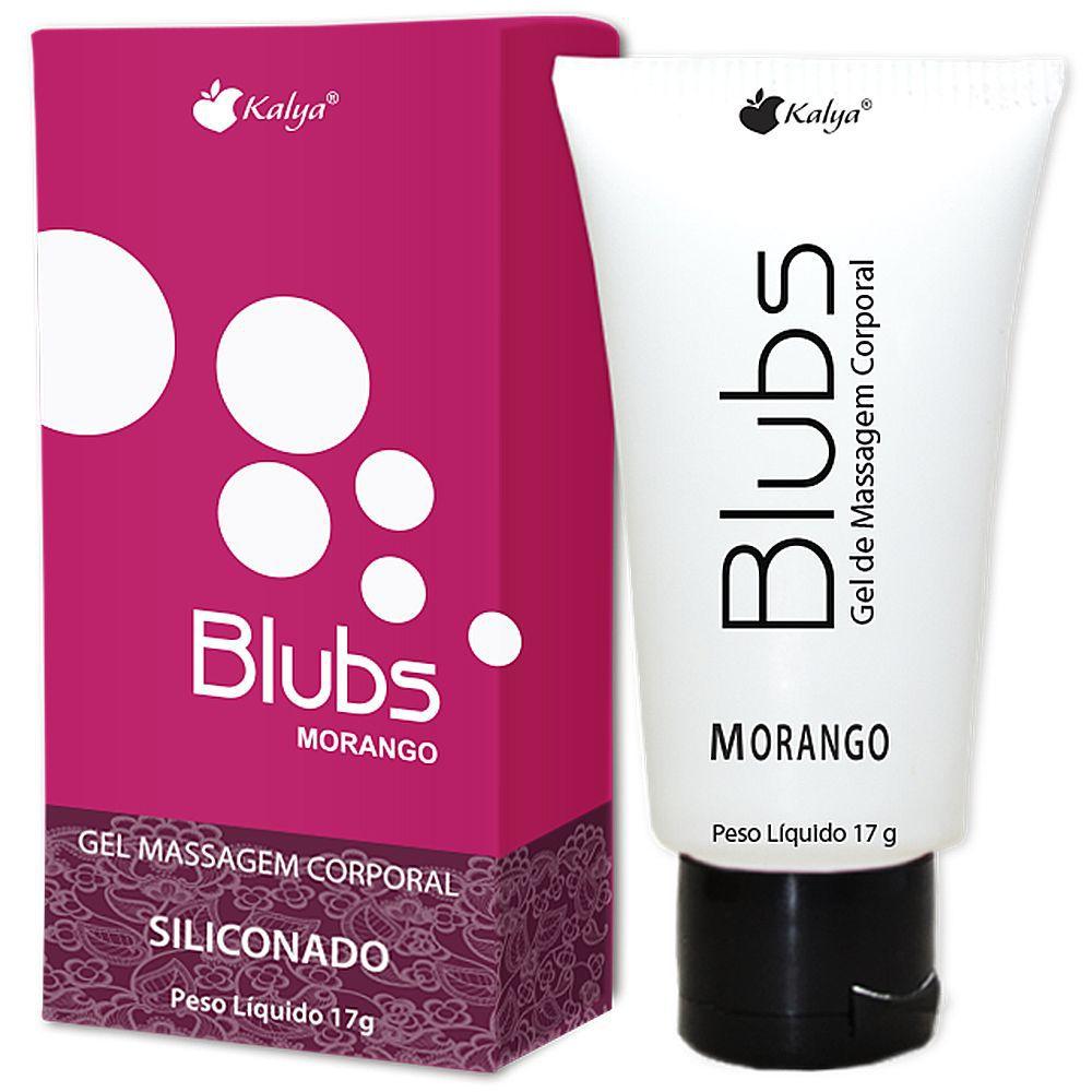 Blubs Morango Gel Siliconado 17g - Kalya