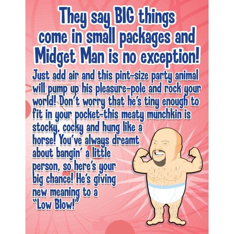 Mini Boneco Inflável Midget Man