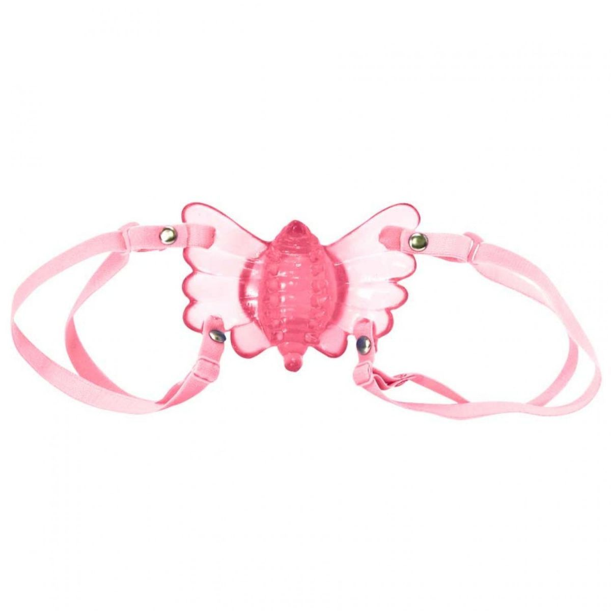 Vibrador Borboleta Mágica Butterfly  com Estimulador Clitoriano - Rosa