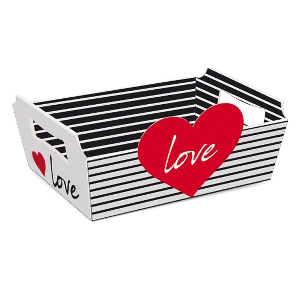 Cesta de cartão Love (G) 32x24x11cm - unidade