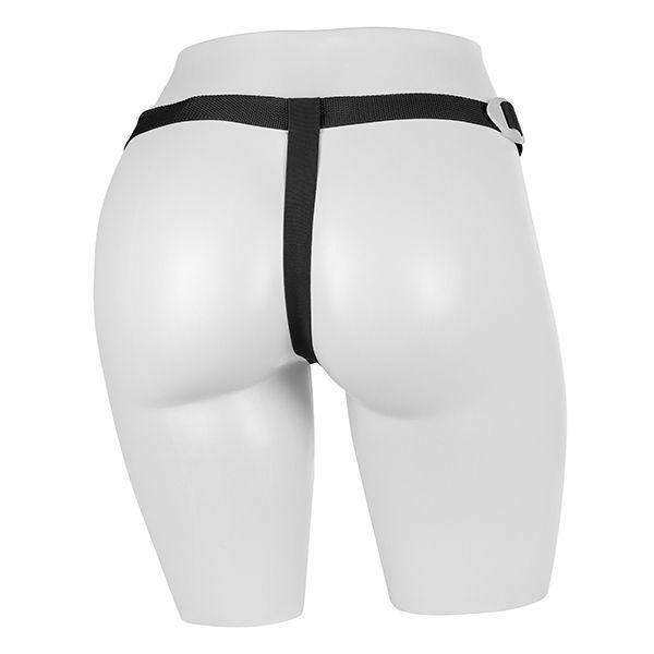 Cinta Strap On ajustável em Vinil - Preta - com pênis de 19x5cm