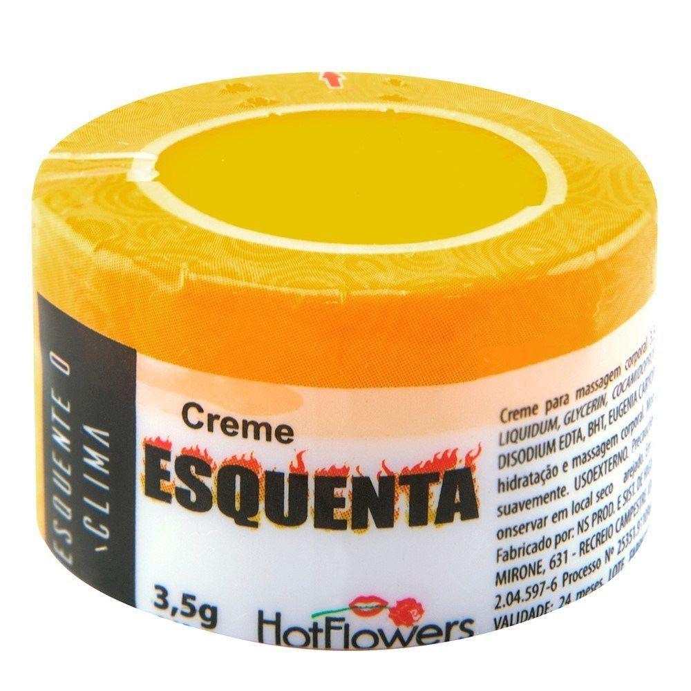 Creme Esquenta Hot Flowers - Excitante com Dose Única 3,5g