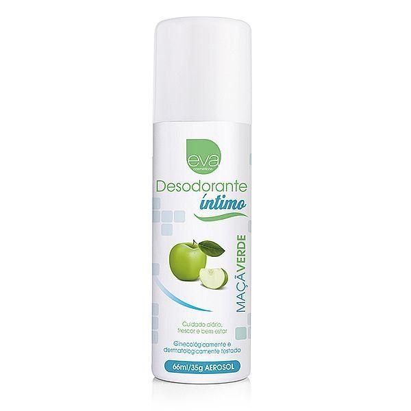 Desodorante Íntimo 66ml - Aroma Maçã Verde - Eva Cosméticos