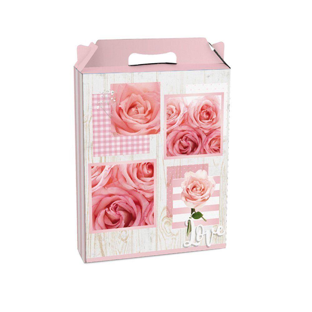 Embalagem para presente caixa maleta Júlia P 15x6x18