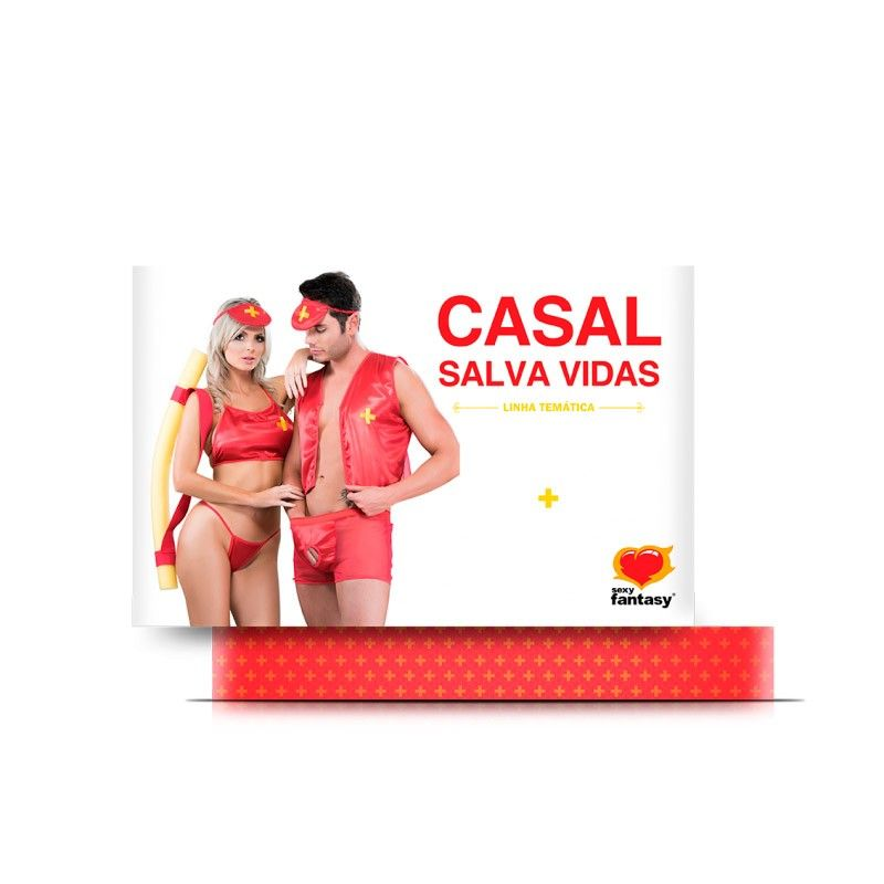 Fantasia Casal Salva Vidas Linha Temática - Sexy Fantasy