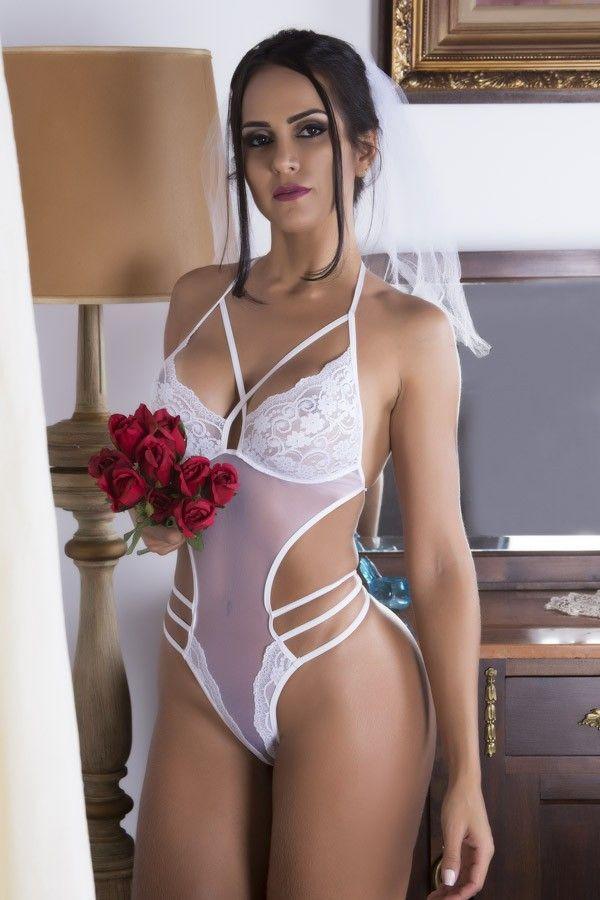 Fantasia erótica Body Noiva Docinho - Lingerie para Lua de Mel