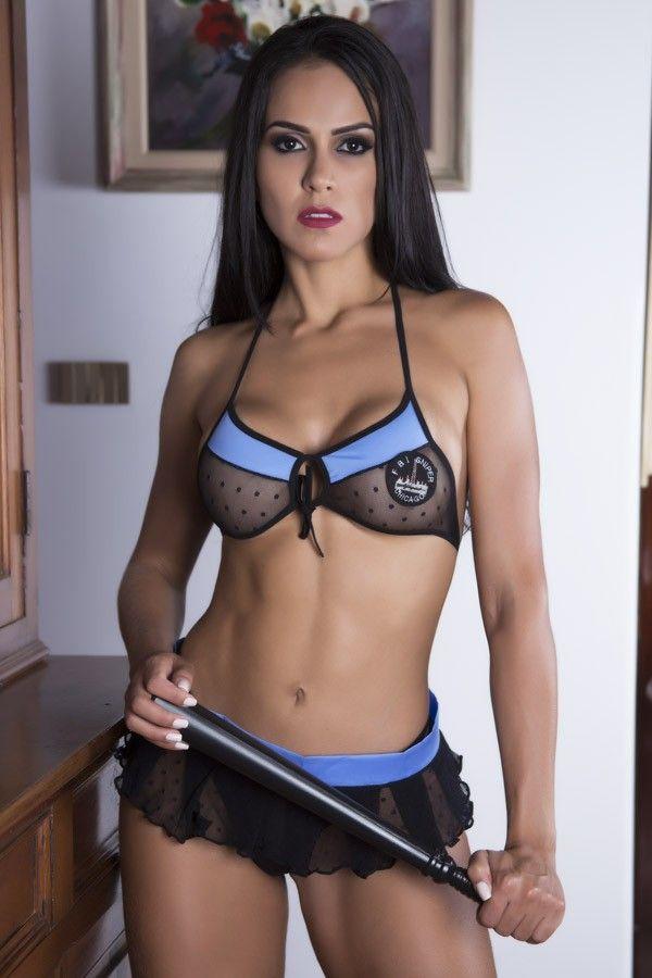 Fantasia erótica Policial de Mini Saia