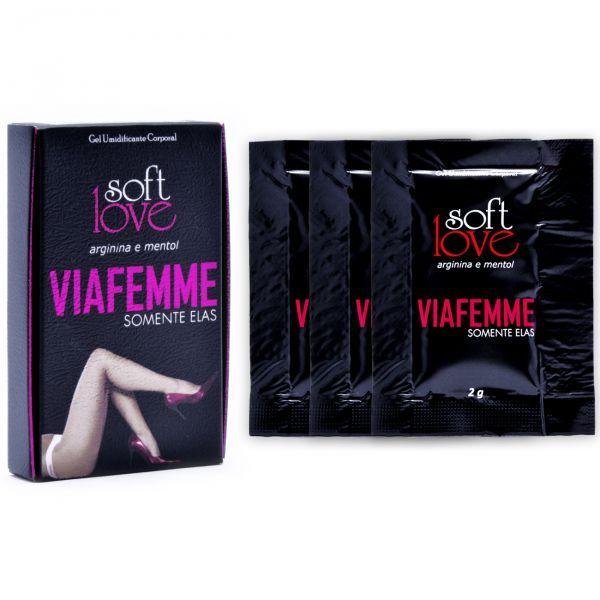 Gel Excitante Feminino em Sachê Via Femme Soft Love 2g - 3 Sachês