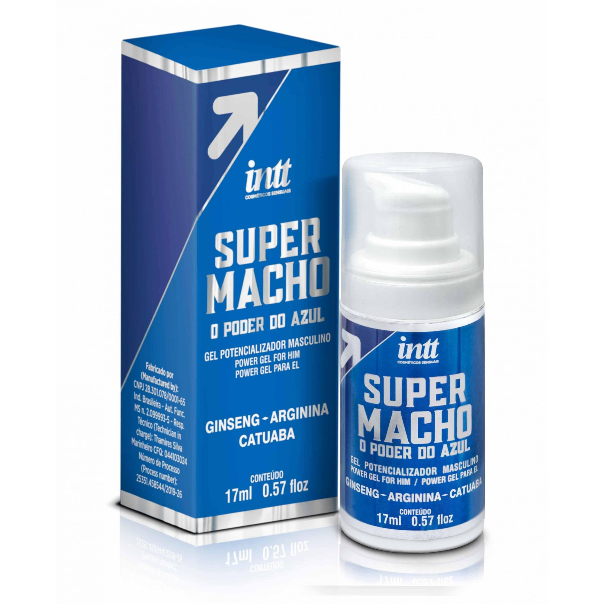Gel Excitante Masculino Super Macho - 17 ml