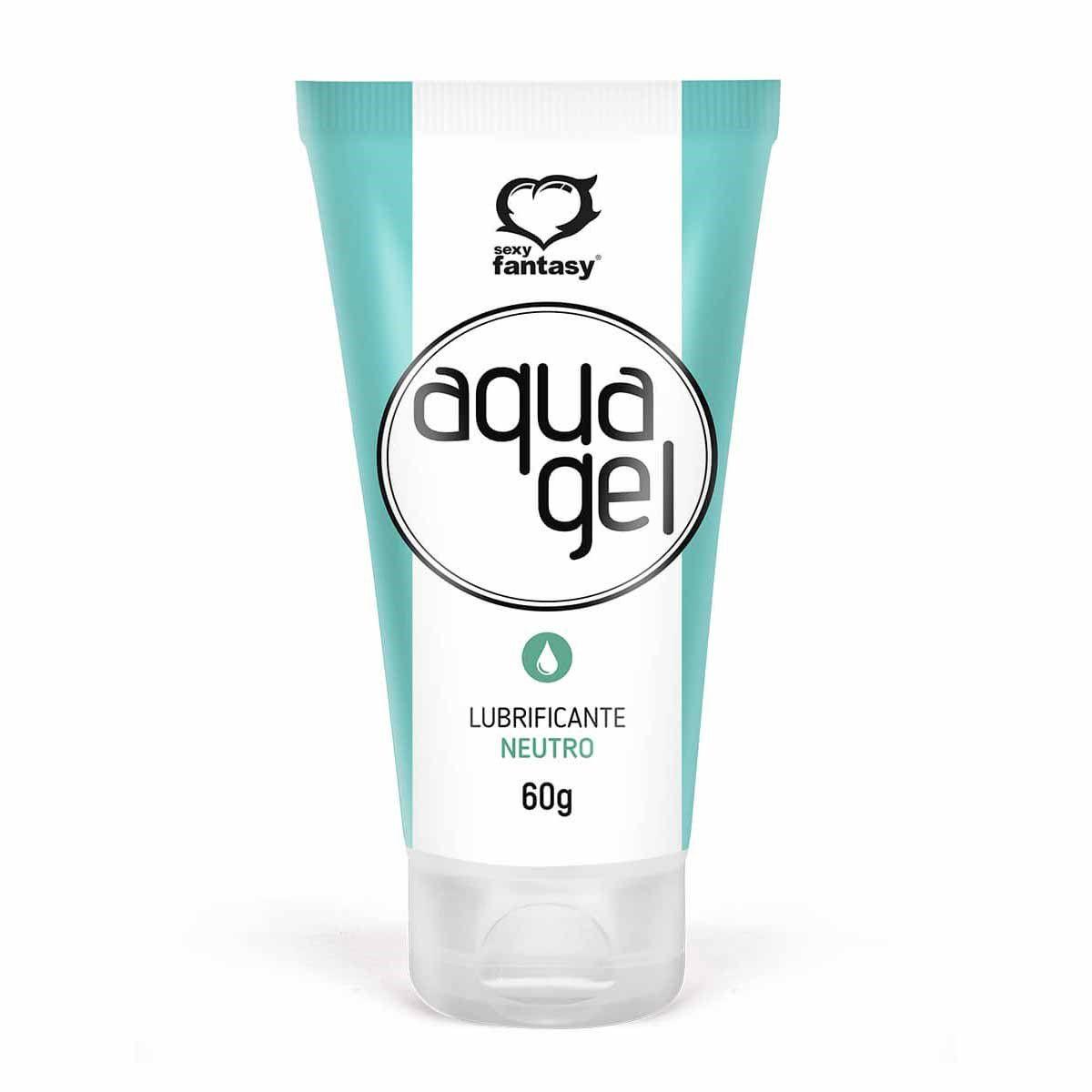 Gel Lubrificante Aqua Gel 60g Neutro - Sexy Fantasy