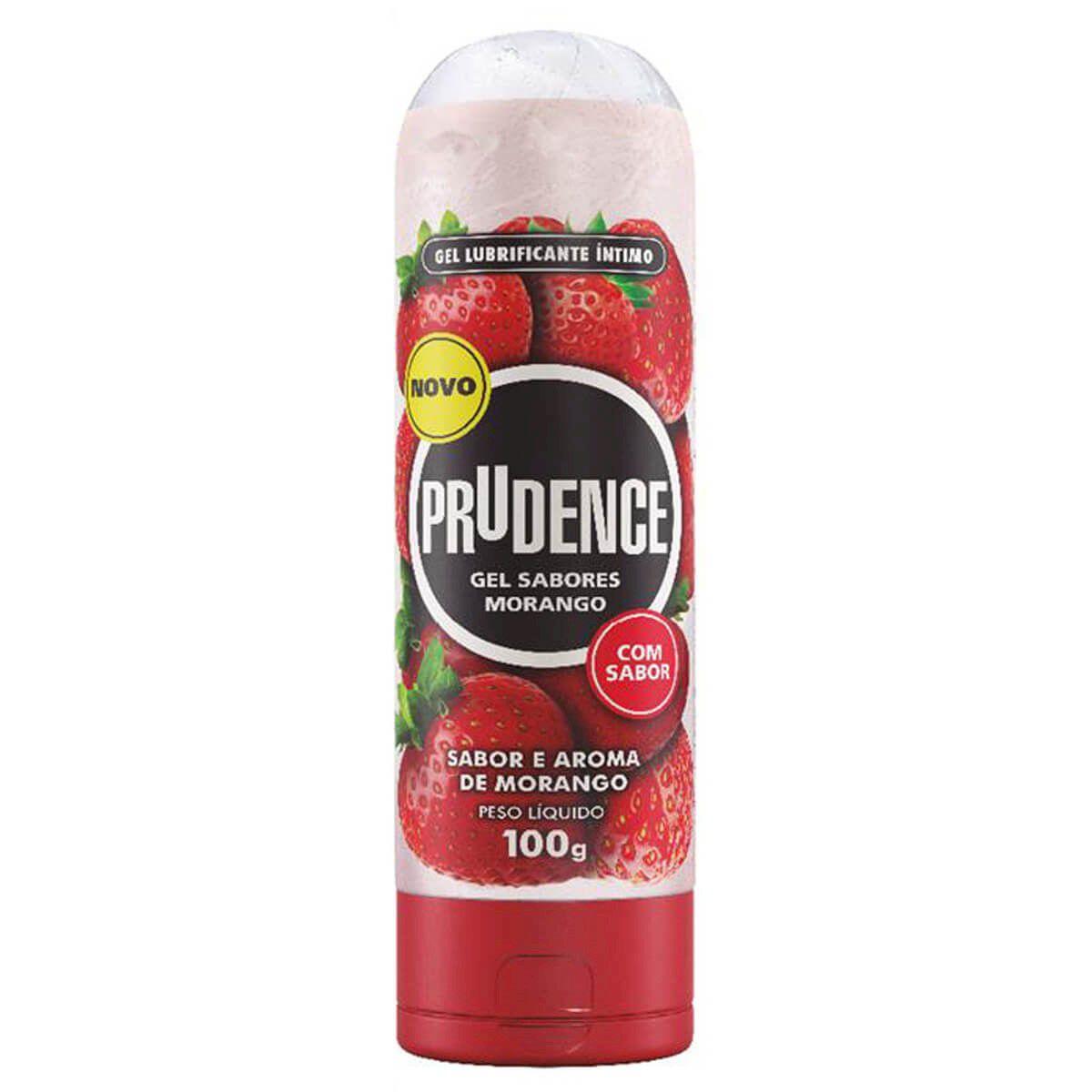 Gel Lubrificante Íntimo Sabor e Aroma de Morango 100g Prudence