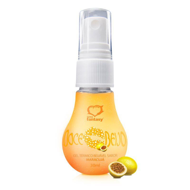 Gel para sexo oral doce Beijo Maracujá - 30ml