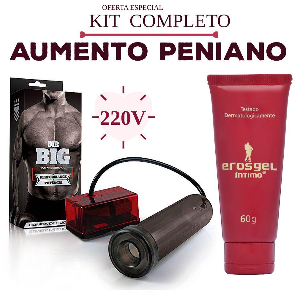 Kit Bomba peniana com Lubrificante 60g