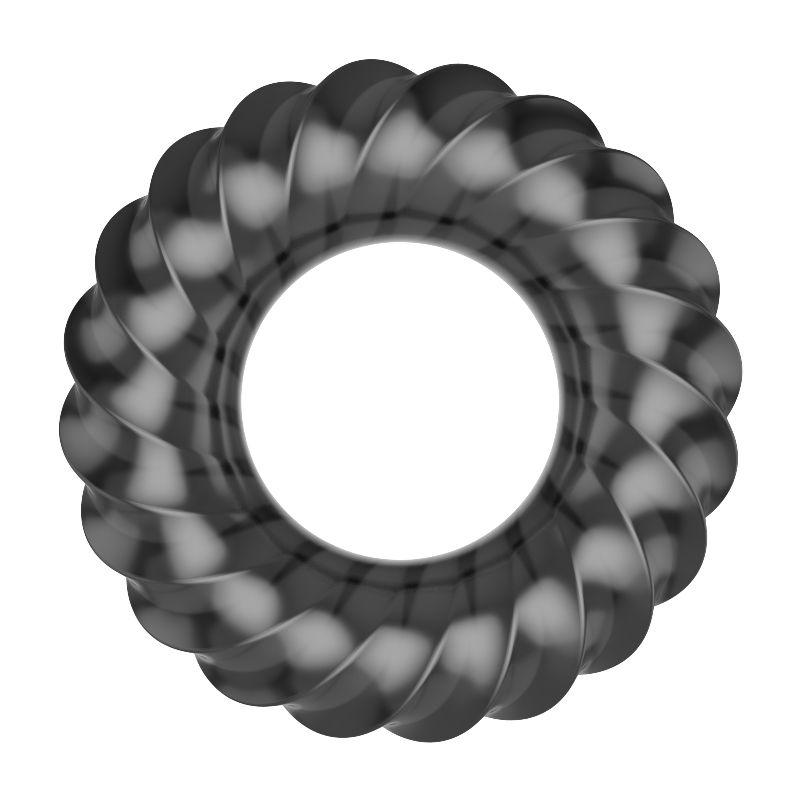 Kit com 3 anéis para estrangulamento testicular e peniano - Black  - Big Cock Rings