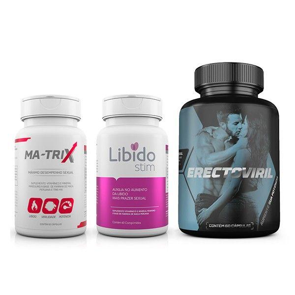 Kit Estimulante com Erectoviril + LibidoStin + Ma-Trix