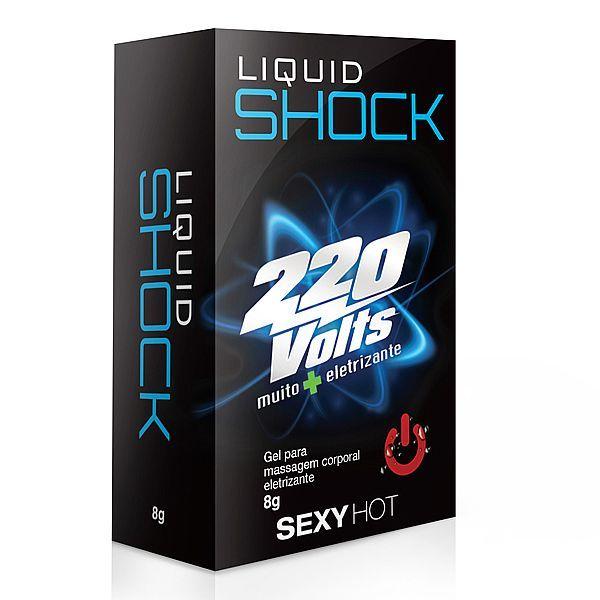 Liquid Shock 220 Volts - 8g - Muito mais eletrizante - Adão e Eva