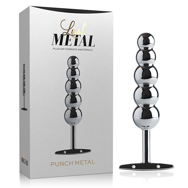 Lust Metal - Plug anal Punch Metal Silver