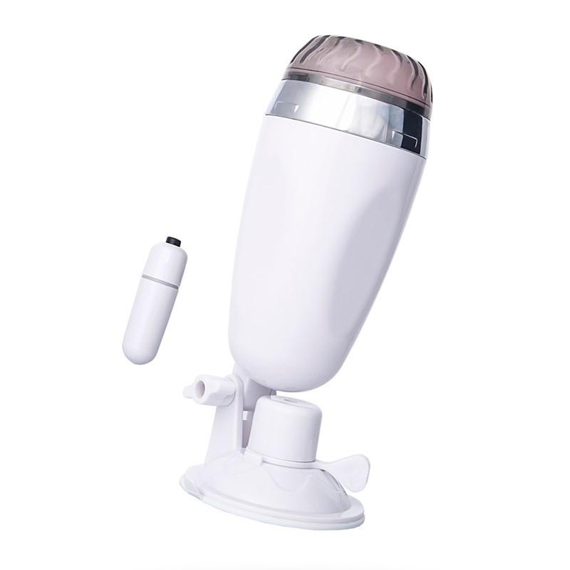 Masturbador masculino com ventosa e capsula vibrador