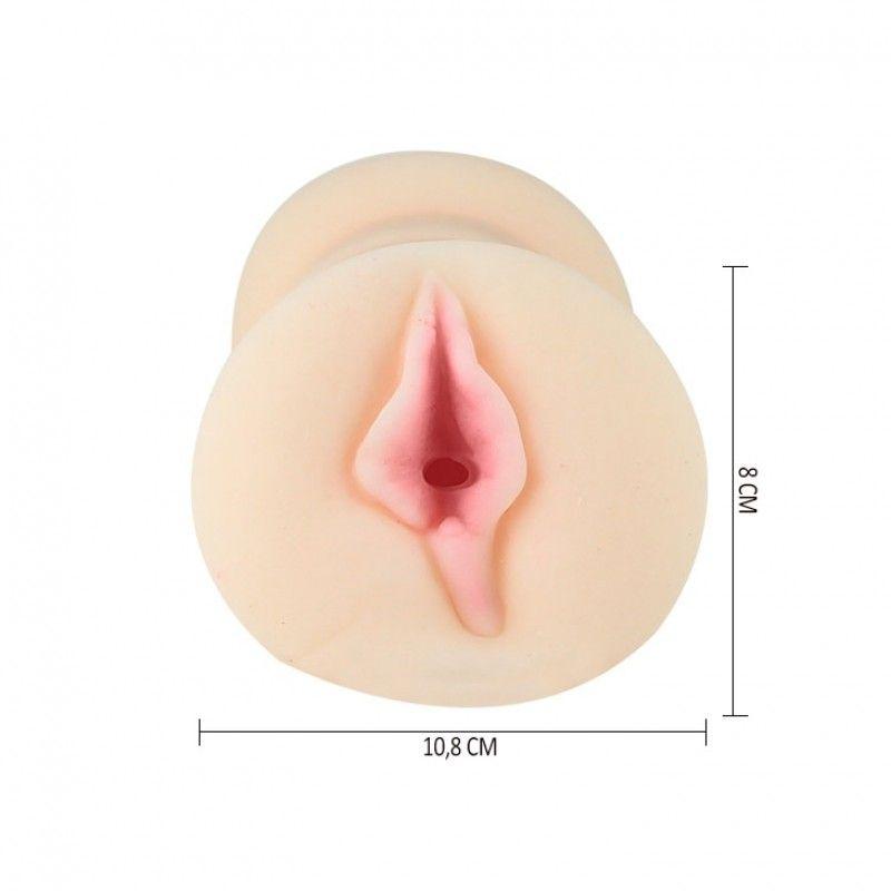 Masturbador Vagina Dupla Em Cyberskin Com Cápsula Vibratória - Passion