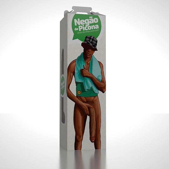 Negão da Picona - Pênis Realístico Negro Gigante em Silicone - 39cm