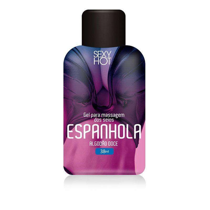 Óleo para massagem beijável Espanhola - Algodão Doce 38ml