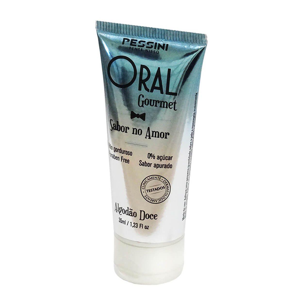 Oral gourmet gel beijável que esquenta de algodão doce 35ml