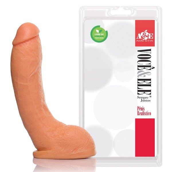 Pênis Realístico com Escroto - 21,5x5cm (bengala)