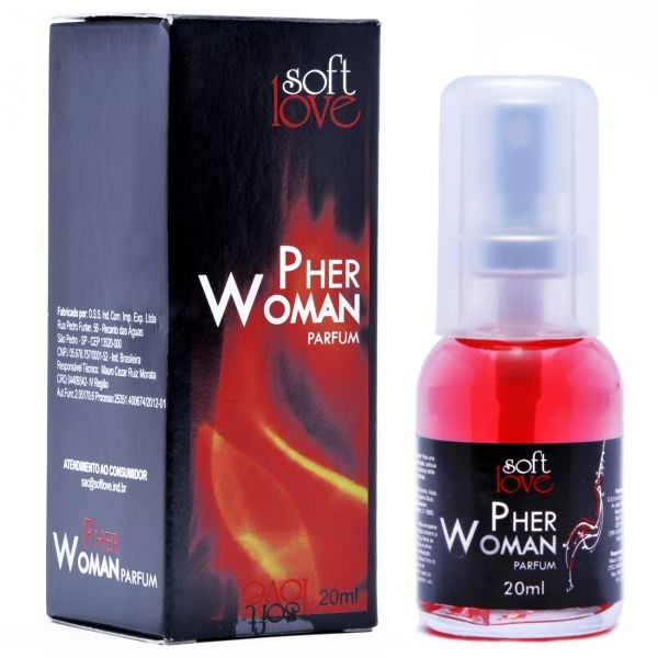 Perfume feromônio Feminino Pher Woman 20ml - Soft Love