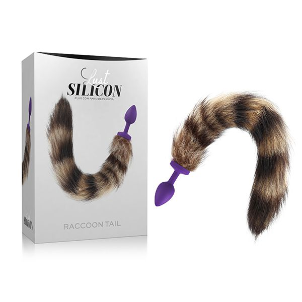 Plug anal com rabo Lust Silicon - Raccoon Tail