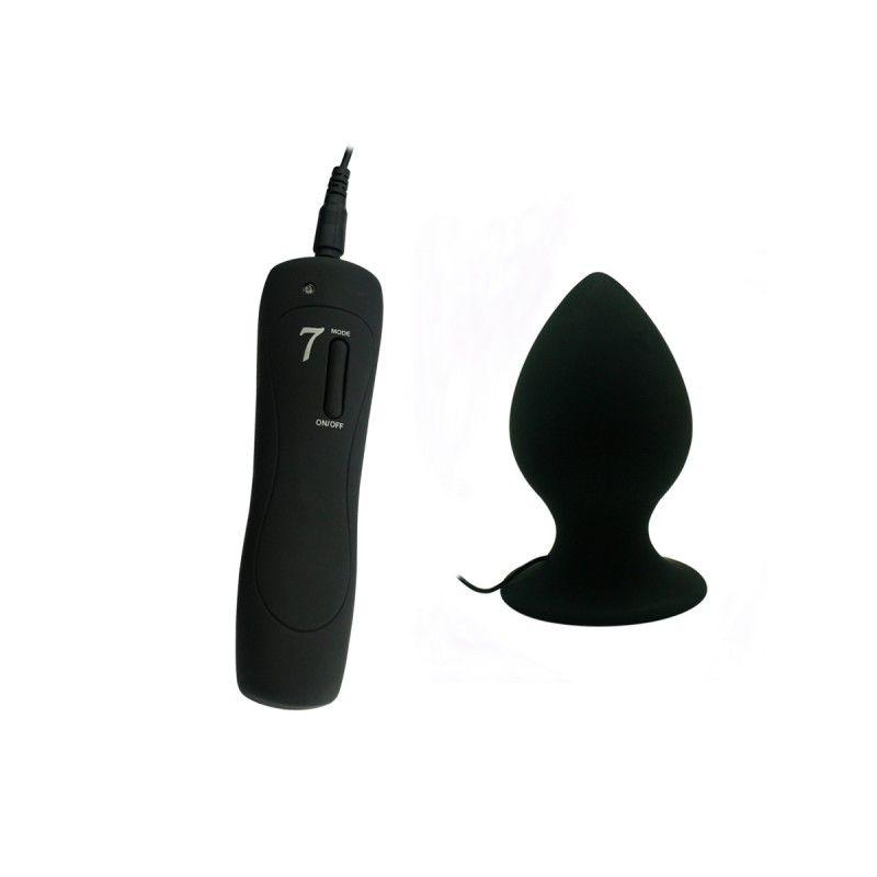 Plug Anal Com Vibrador 9,5 X 5 Cm P Com 7 Vibrações - Mega