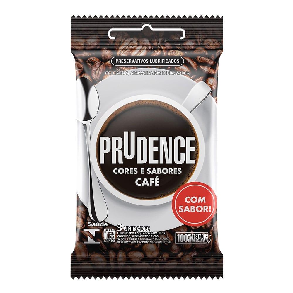 Preservativo Prudence Cores E Sabores - Café