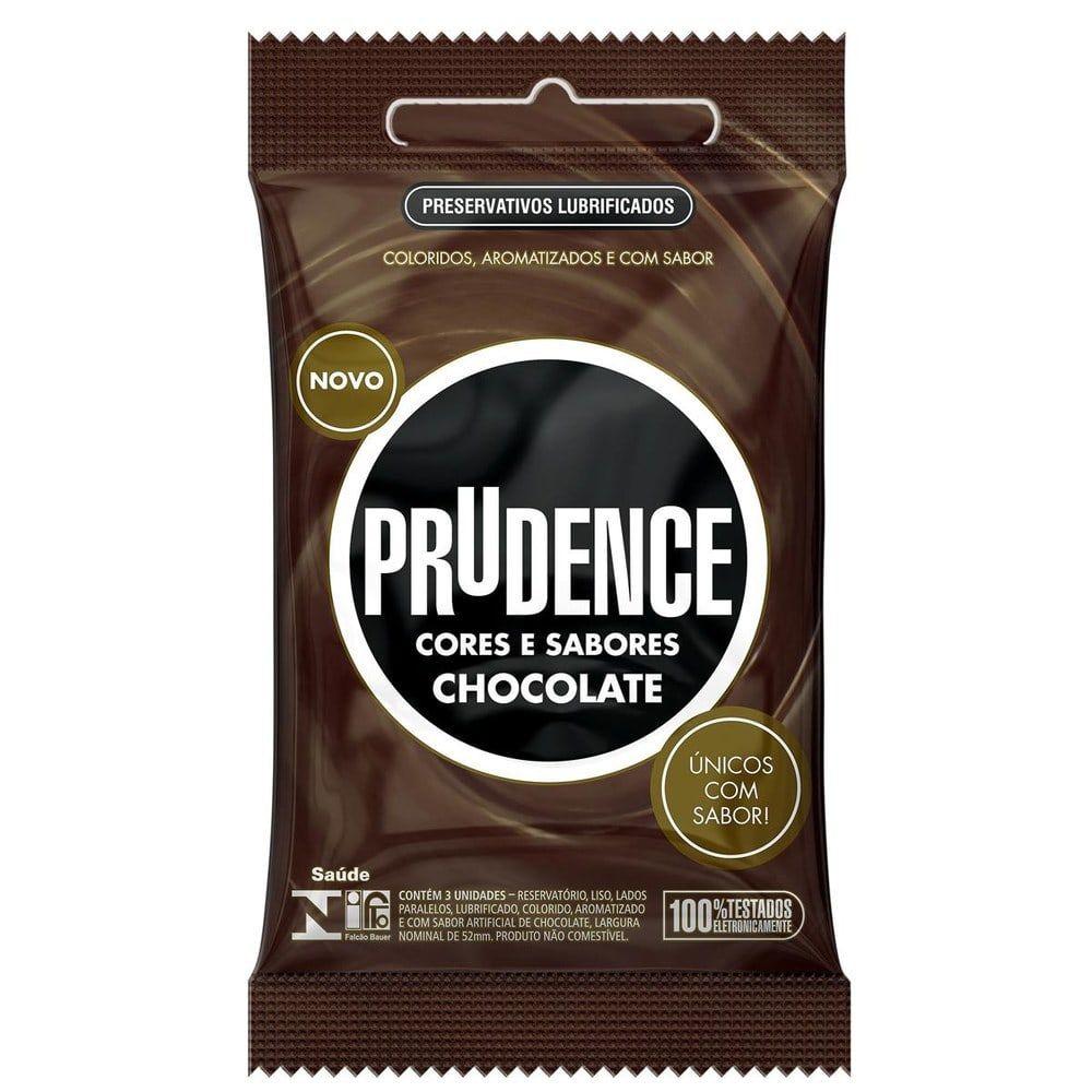 Preservativo Prudence Cores E Sabores - Chocolate