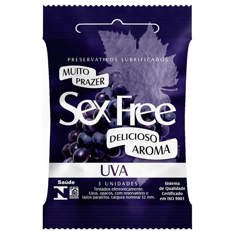 Preservativo Sex Free Aroma Uva 3 Unidades