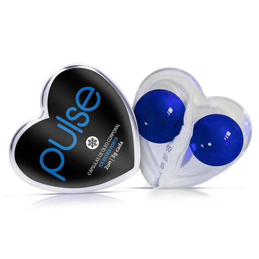 Pulse cápsulas de óleo corporal ice extra forte 2 un