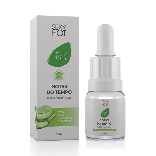 Retardante Gotas do Tempo - Aloe Vera - Prazer Prolongado - 10ml