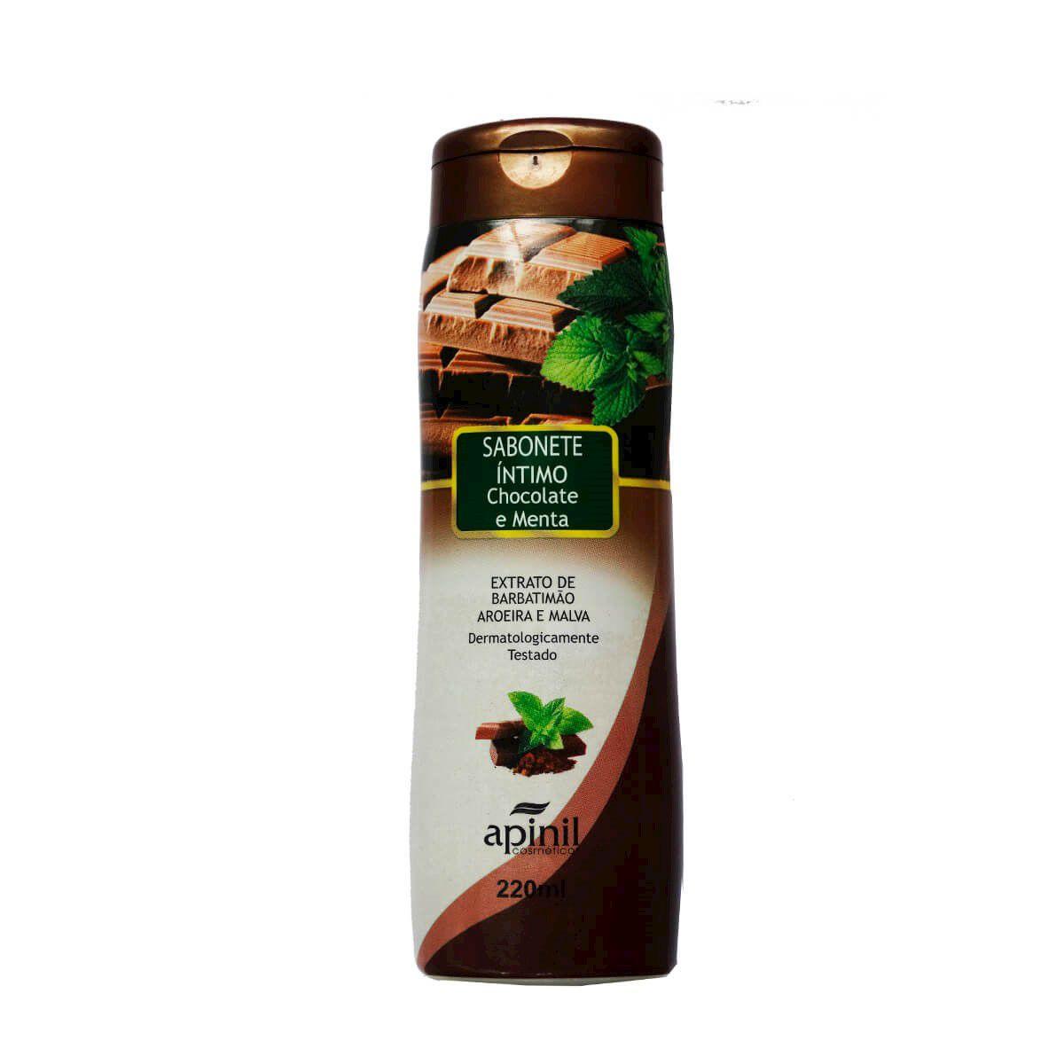 Sabonete íntimo aroma de chocolate e menta 220ml