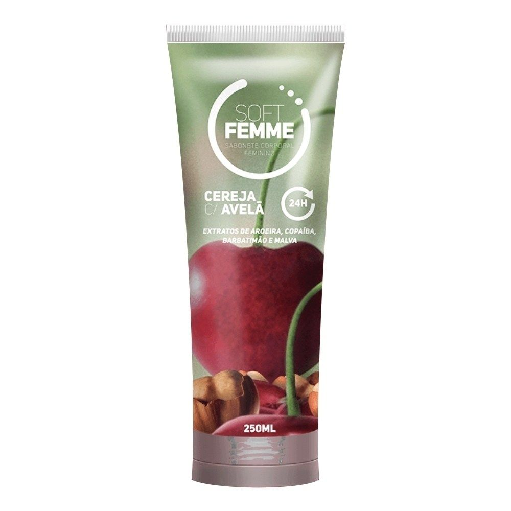 Sabonete Íntimo Soft Femme Cereja com avelã 250ml